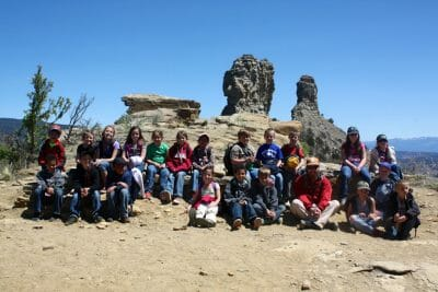 school groups at chimney rock